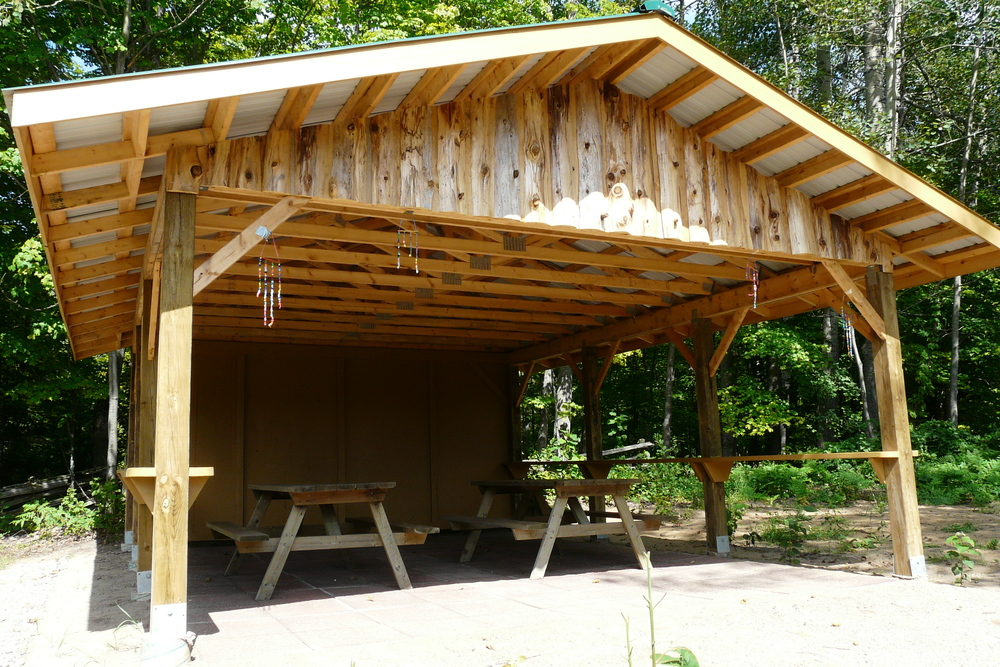 Outdoor Pavilion,   B  uilt 2008 by Ron Beaupre and Randy Gill