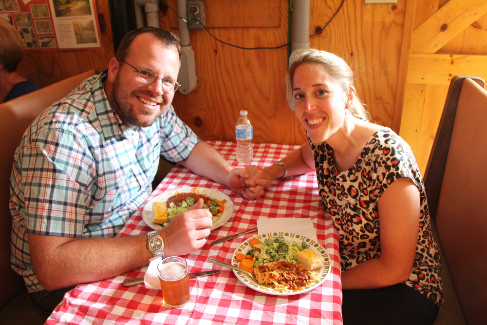 Jonathan and Marney enjoying some of All Tribes amazing food!