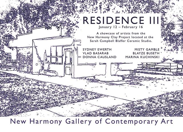 Join us this Saturday, Jan 12, 4-6pm, for the opening of RESIDENCE III. . . . #ceramics #artistresidency #residency #newharmony #clay #sculpture #pottery #contemporaryart #artist
