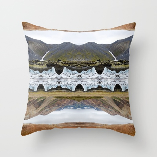 LAND OF CONTRAST throw pillow