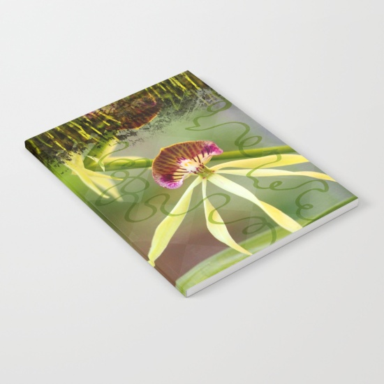 BLACK ORCHID notebook