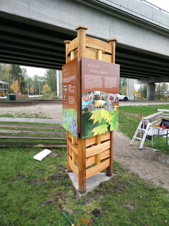 interpretive Signage:  South Fraser Perimeter Recognition Area for Musqueam First Nation - installed