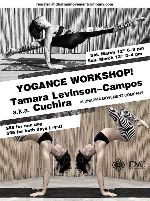 Poster:  Dharma Movement Company Yogance Workshop