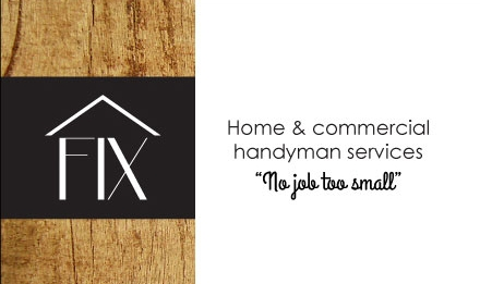 Logo and business card:  FIX Repair and Handyman Services
