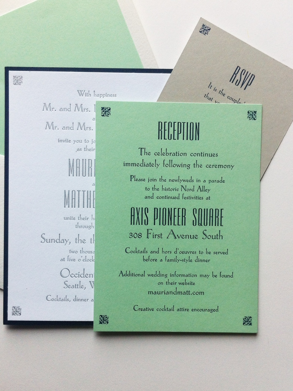 Blog bremelo press wedding invitations for mauri and matt made with vintage hand set type from our collection here at bremelo press hand set and printed by the bride and reheart Gallery