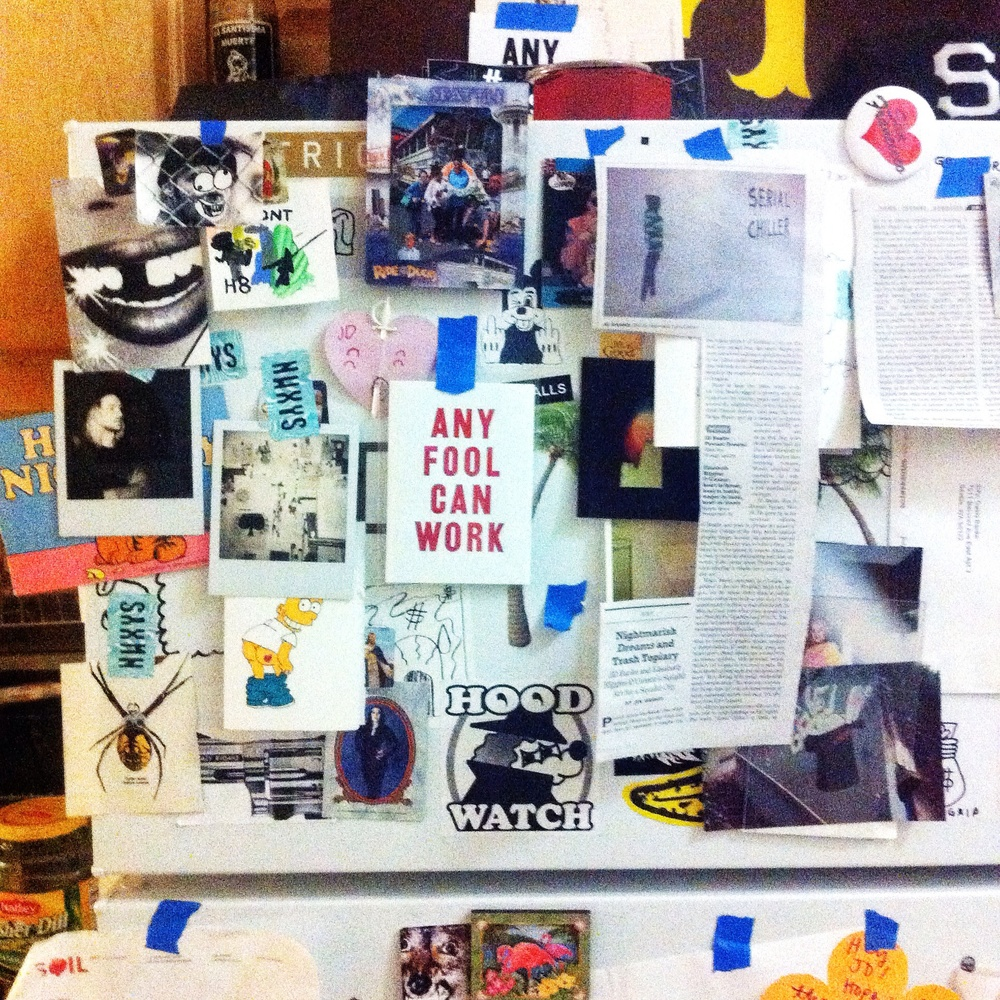 Bremelo Press greeting card takes center stage on the 'fridge.