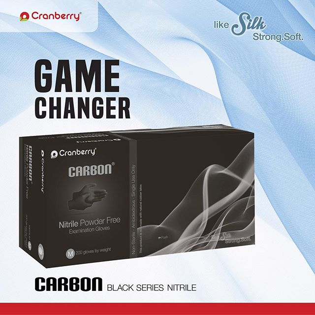 Are you ready for change? ⠀ #Carbon #glove #dental #dentistry #infectioncontrol #hygiene #dentist #dentalhygienist #fit #dentalassistant #dentaladvisor #dentalstudent #protection #dentalgloves #dentalsupplier #dentallab #cranberry #cranberryusa #cranberrygloves #likesilk #soft #strong #latexfree #powderfree #disposable #blackgloves #blackfacemasks #gamechanger #change