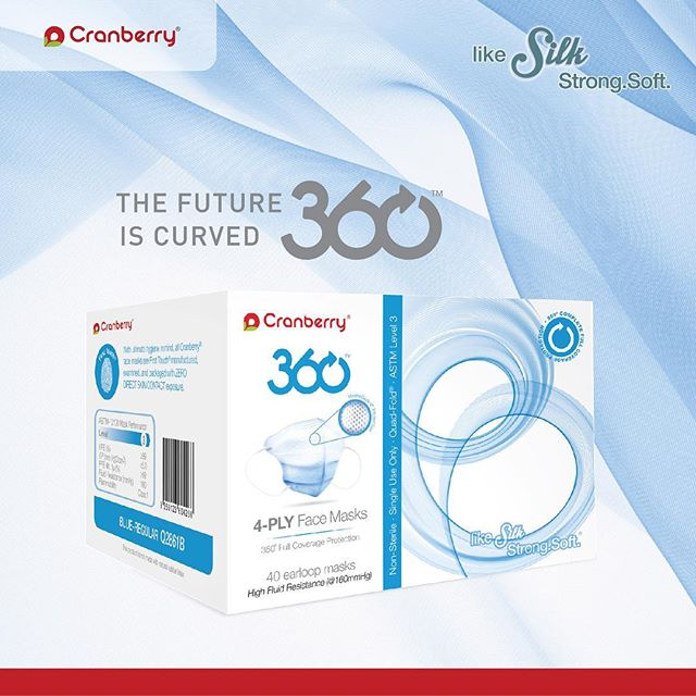 The Future is Curved. #360 #mask #dental #dentistry #infectioncontrol #hygiene #dentist #dentalhygienist #fit #dentalassistant #dentaladvisor #dentalstudent #protection #dentalmasks #dentalsupplier #dentallab #cranberry #cranberryusa #cranberrymasks #likesilk #soft #strong #latexfree #powderfree #disposable #360masks #change #innovation