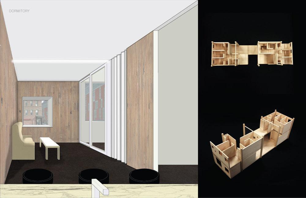 Unit nterior render & Unit model