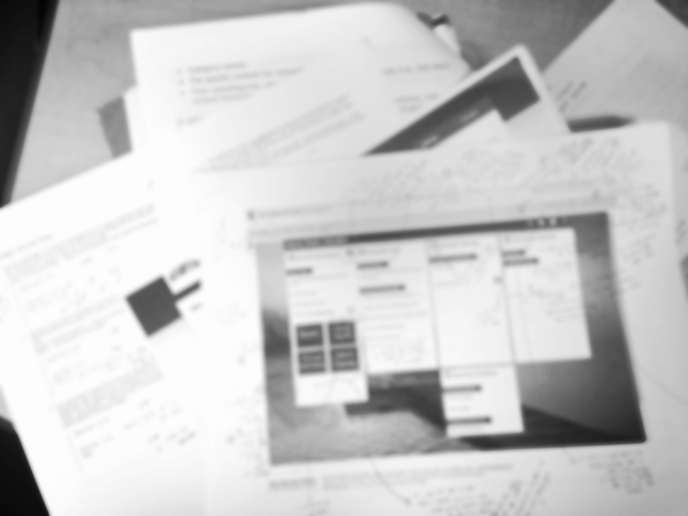 Image of annotated screenshots and task notes is intentionally blurred to honor non-disclosure agreements with the client.