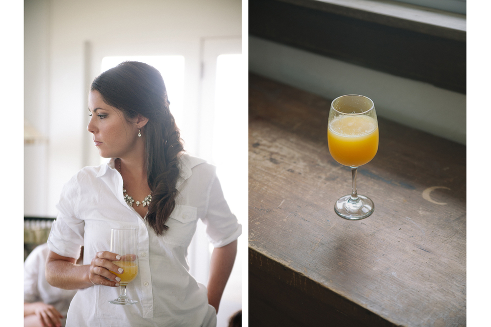 Bridesmaid and Mimosa | Winslow Estate Wedding - Orleans, MA. | Kelly Burgess Photography