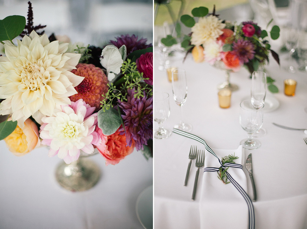 Codman Estate Wedding Floral & Table Details - Lincoln, MA. | Kelly Burgess Photography