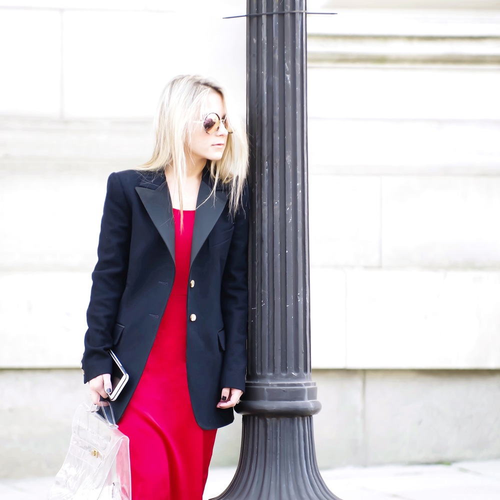 black_blazer_red_Silk_Dress