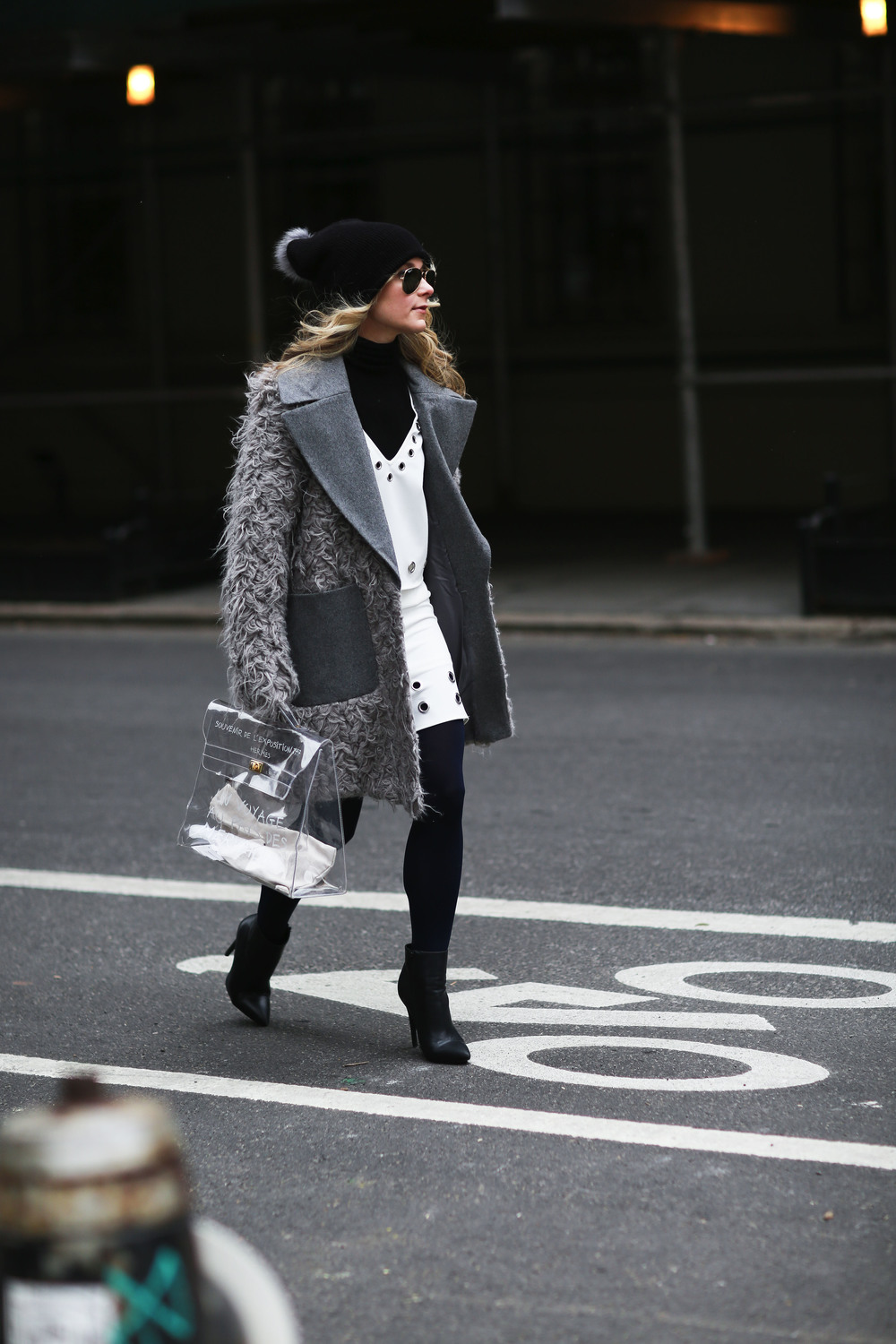 vintage_Clear_hermes_blogger_fuzzy_Coat
