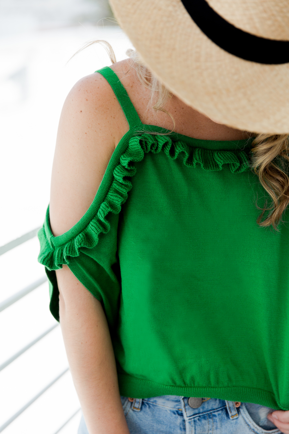 green_ruffle_top