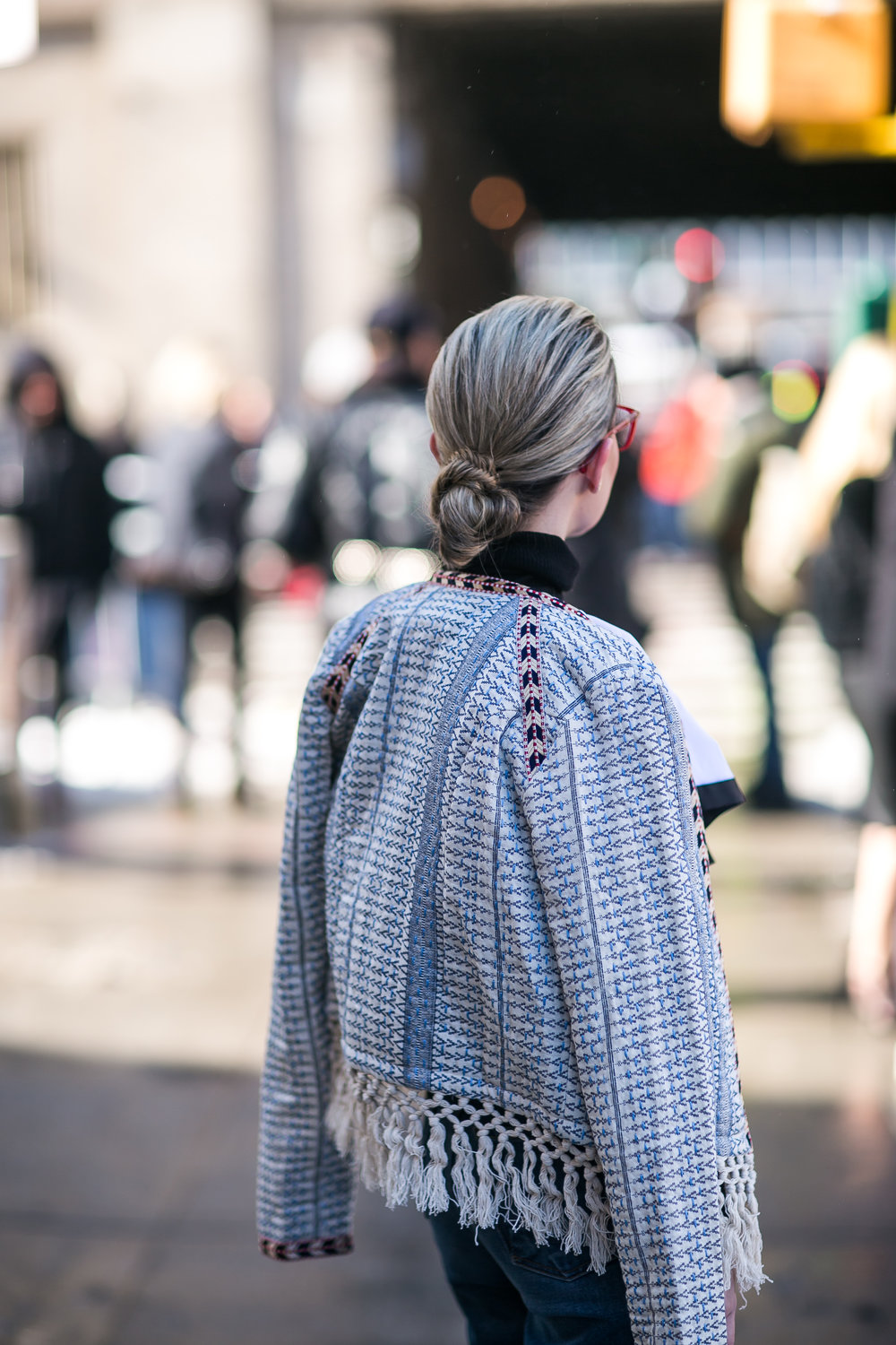 NYFW Day 2 Look from behind