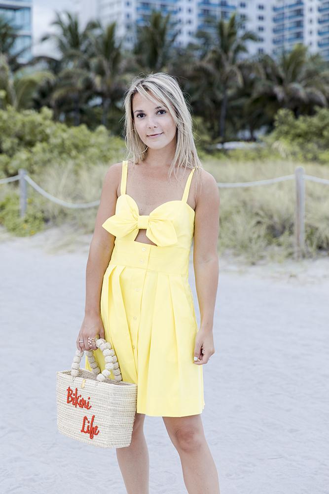 milly-yellow-mini-dress