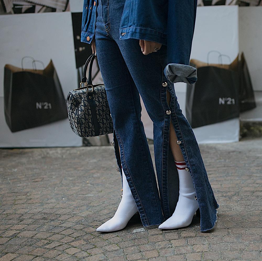 zara white sock booties storets denim