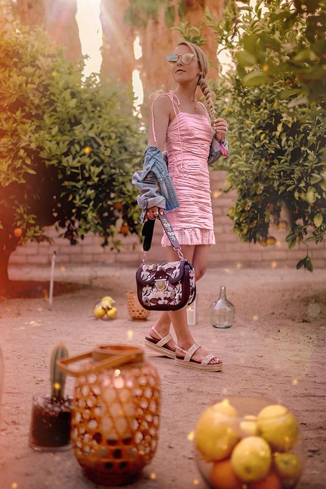 Christie Ferrari Coachella outfit Furla Villa with Furla Ducale Bag