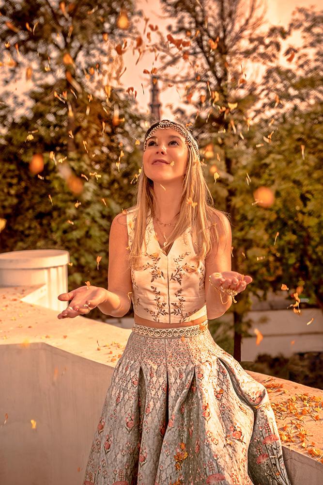Christie ferrarai wears anita dongre grassroot in india
