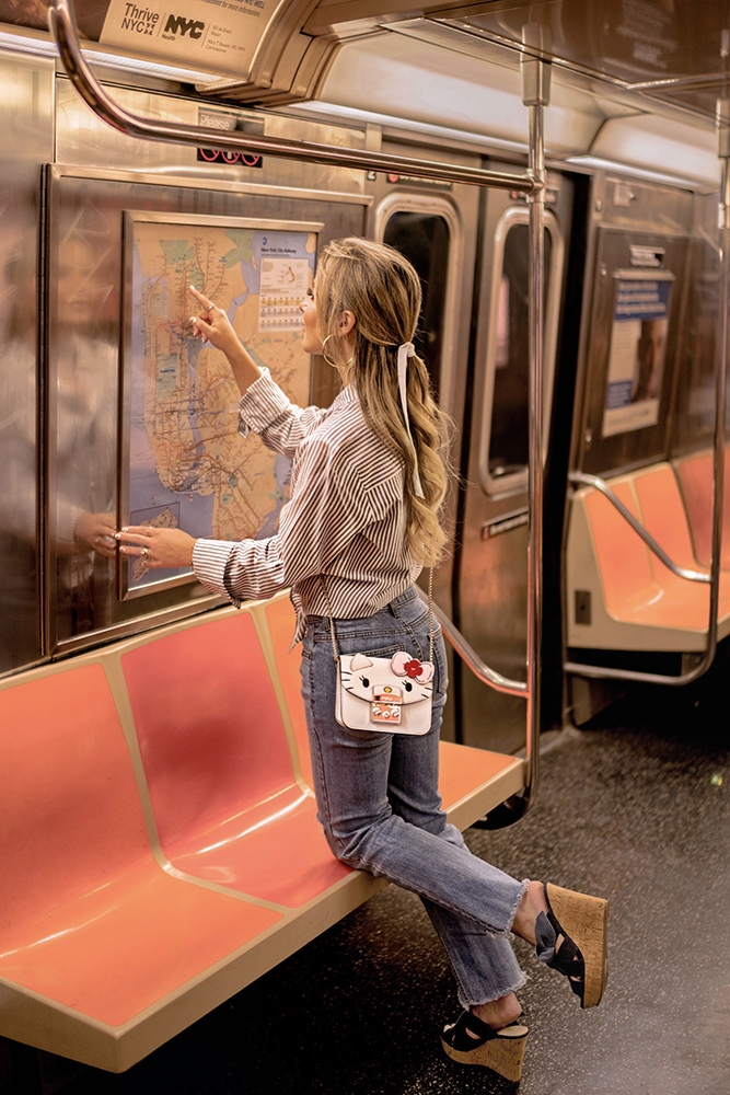 Christie ferrari wears Furla Hello Kitty mini crossbody for hot bag alert review 2018