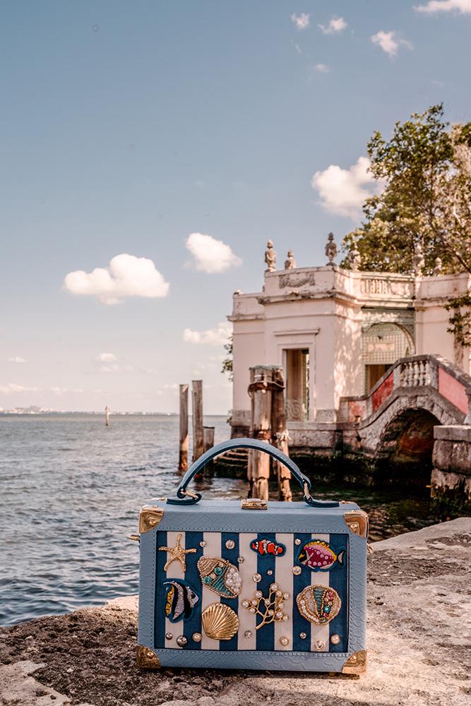 nautical bag from DSW. Christie ferrari at vizcaya in miami