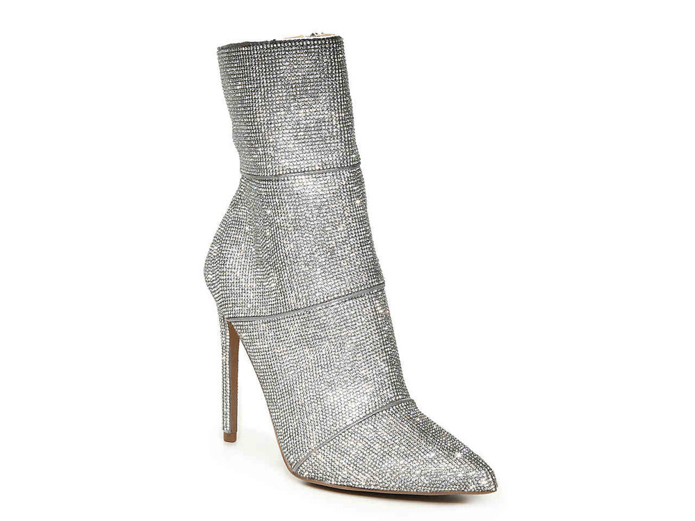 glitter shiny NYE heeled booties