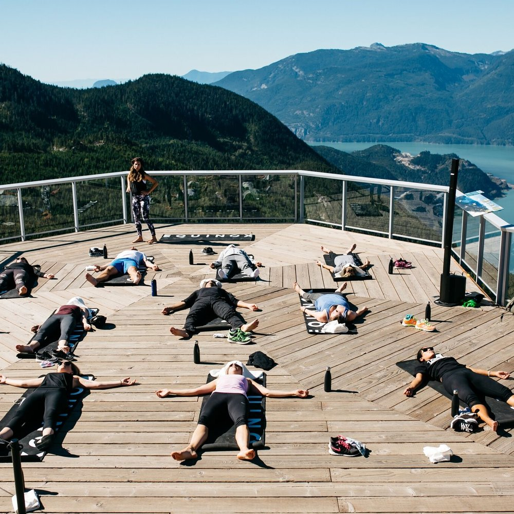 Corporate yoga for Equinox Vancouver gym opening