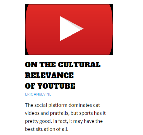 NBC Sportsworld: On the Cultural Relevance of YouTube