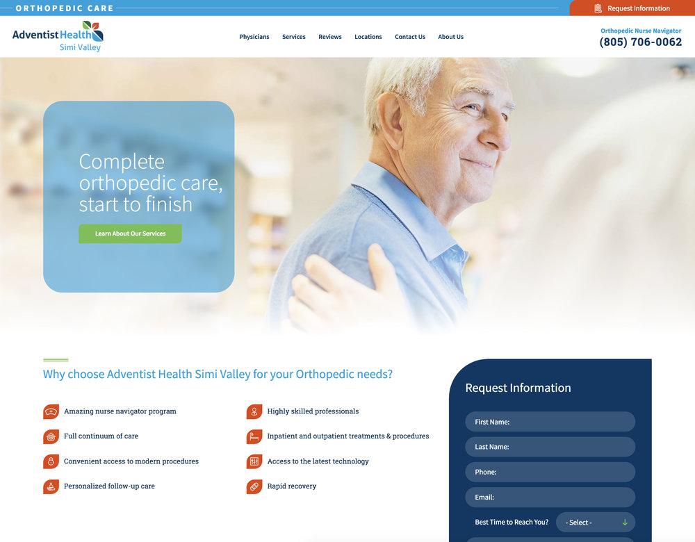 Orthopedic Microsite