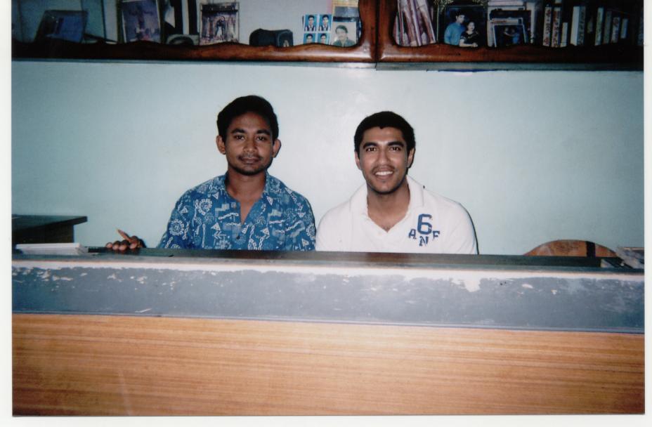 Sagar (L) and I (R) at Rani Studios