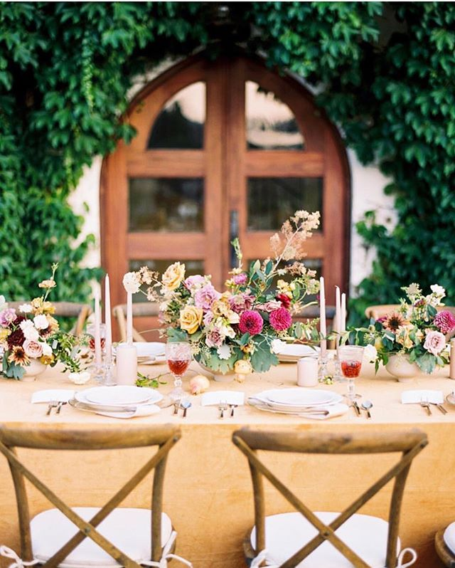 I'm super into a colorful table. Anyone else agree?  Photo by @shannons_photo  Planning and styling by @southern_affairs