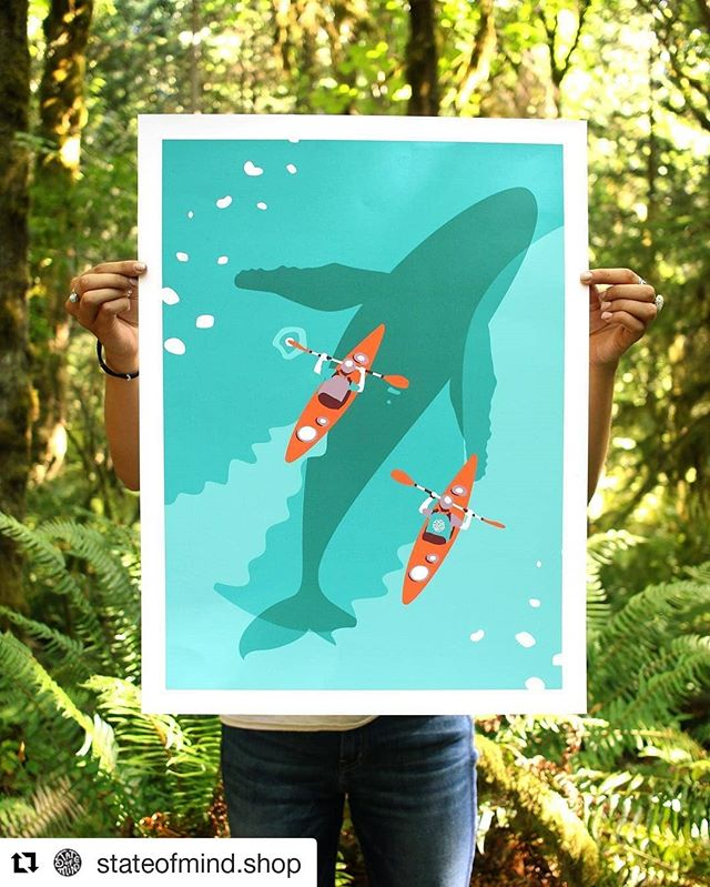 Raise your hand if you'd rather be on the water ✋✋✋ So stoked to be working on some posters for @stateofmind.shop , shirts incoming!