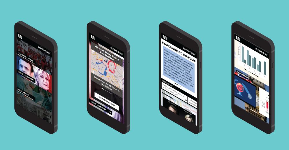 NextGen Issues - modular news for millennial audiences