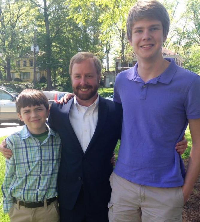 Left to right: Eli Maughan, Andrew Johnson, Henry McKlin