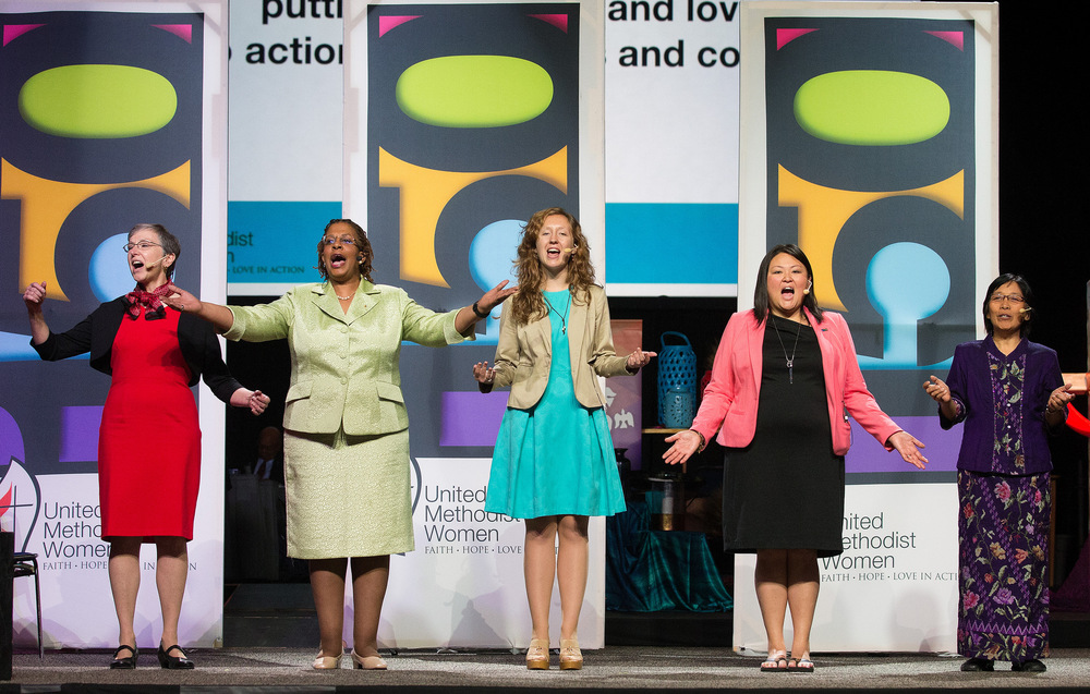 United Methodist Women (UMW) celebrated its 150th anniversary during the 2016 General Conference.  Photo by Mike DuBose, UMNS