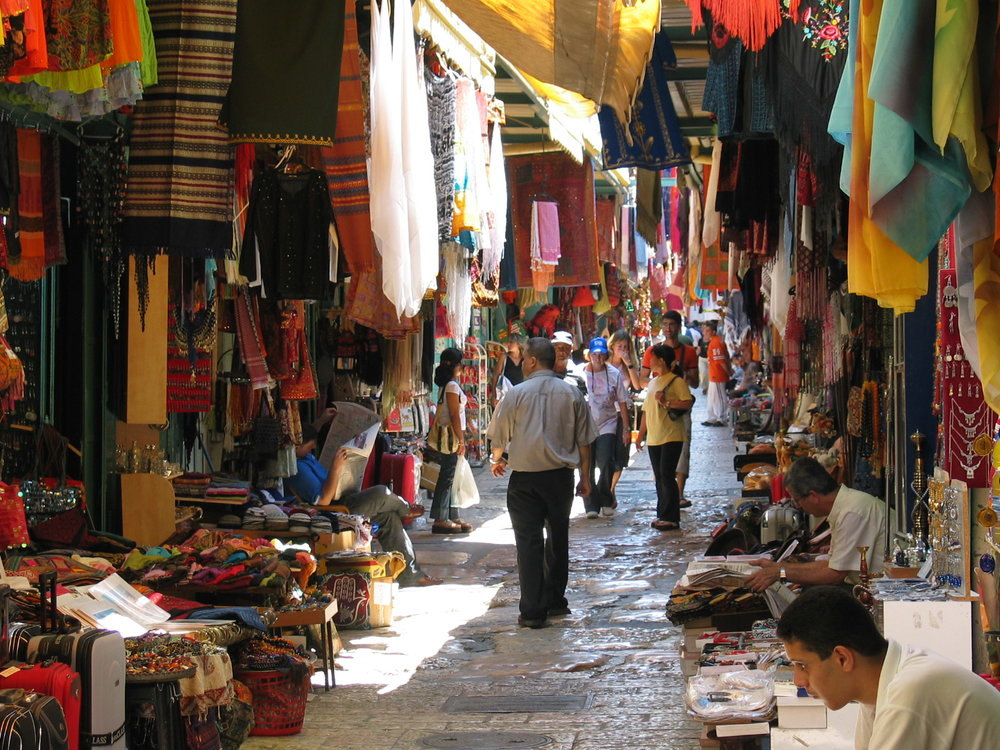 A market in Jerusalem.
