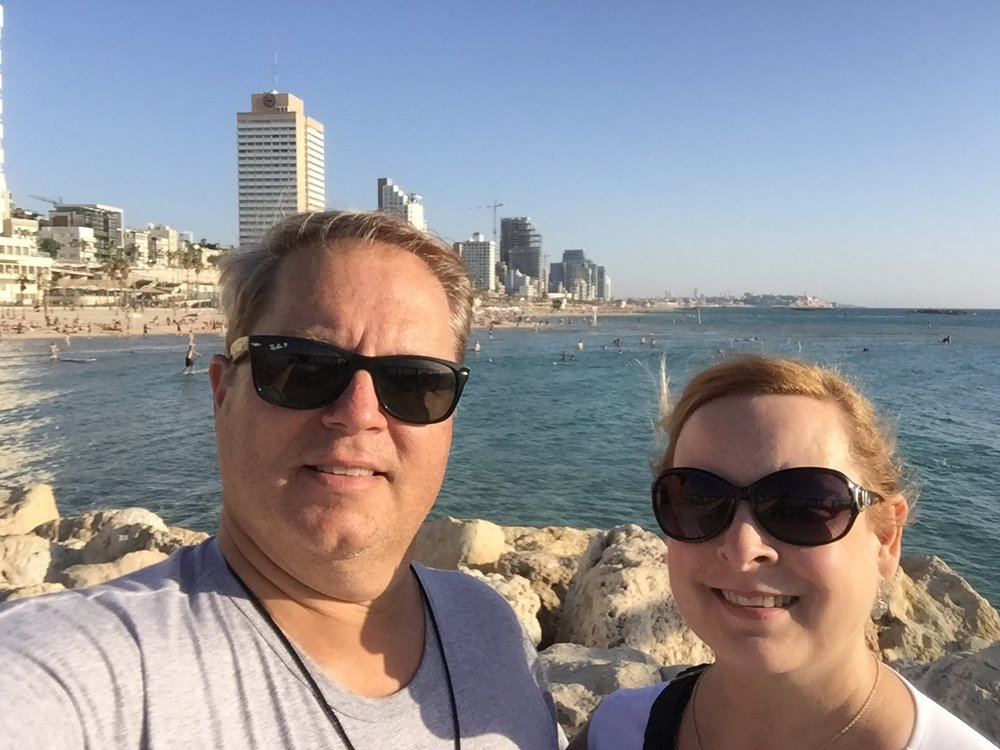 Stacey and J.R. in Tel Aviv, Israel