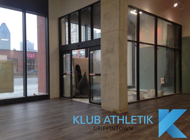 Klub Athletik Griffintown Montreal gym. Est-ce que vous aimez bien notre entrée principale? Do you like our main entrance?