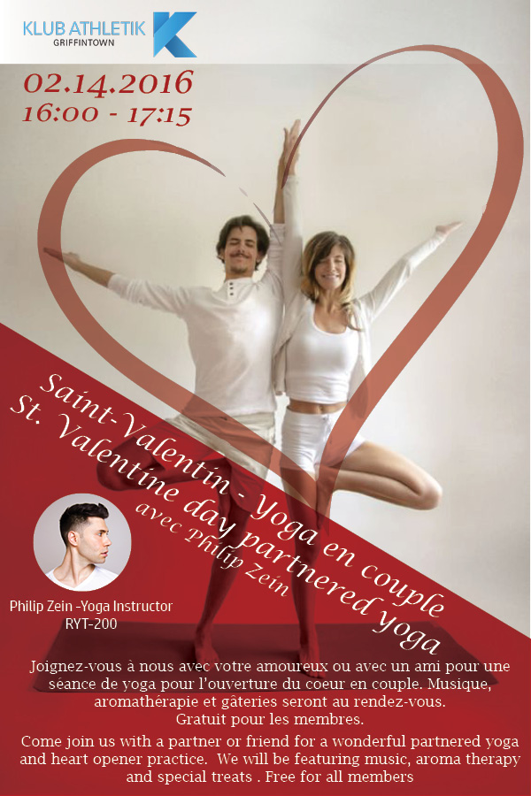 st. valentine day partnered yoga klub athletik griffintown montreal