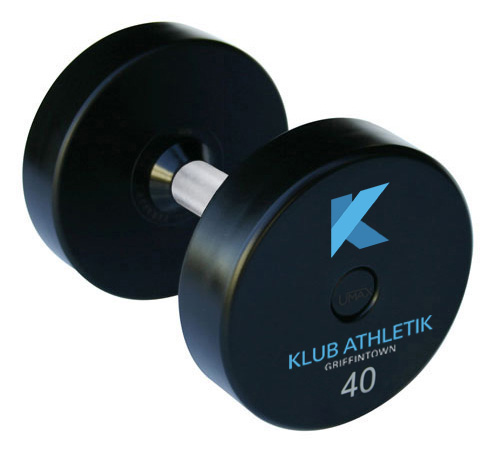 klub athletik custom dumbbells arriving soon