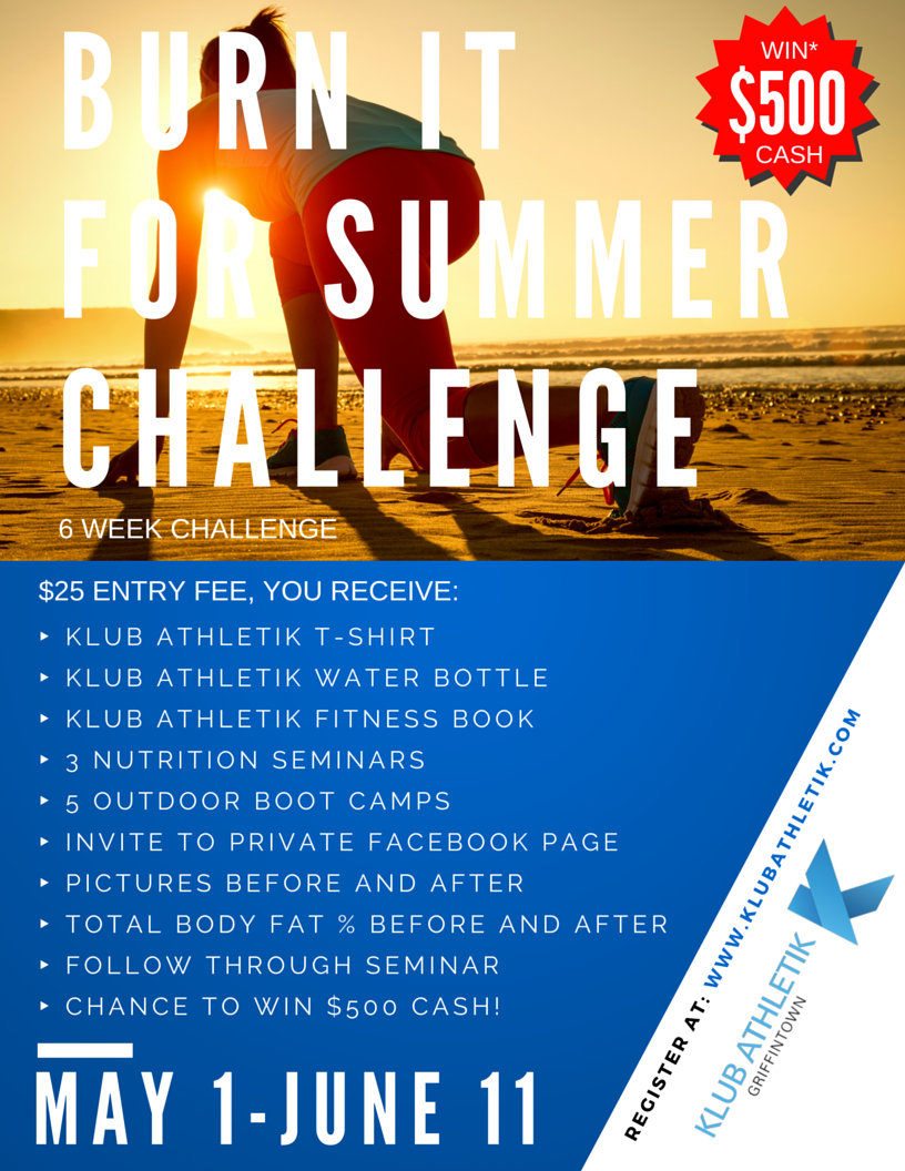 burn it for summer challenge!