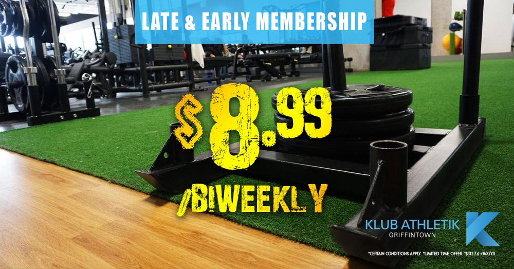 late & early membership