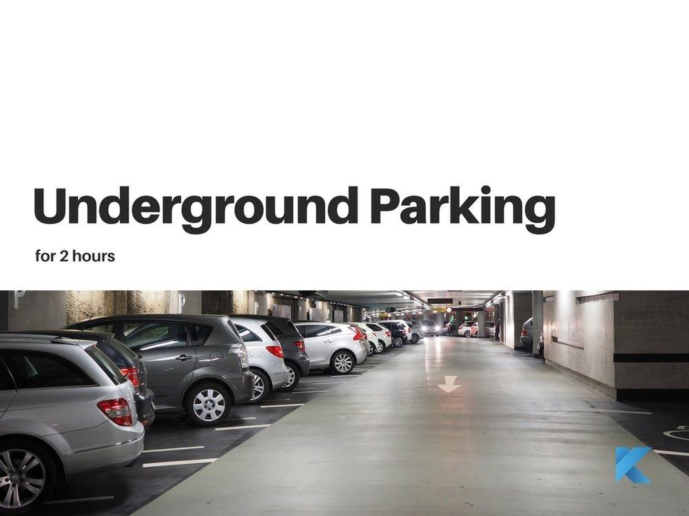 Underground parking at gym montreal Klub Athletik griffintown gym