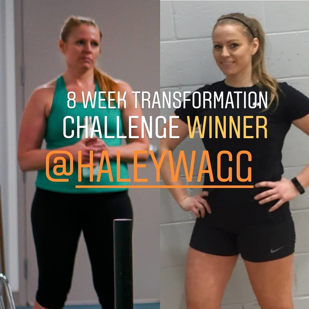 Haley Wagg group personal training griffintown 8 week challenge winner