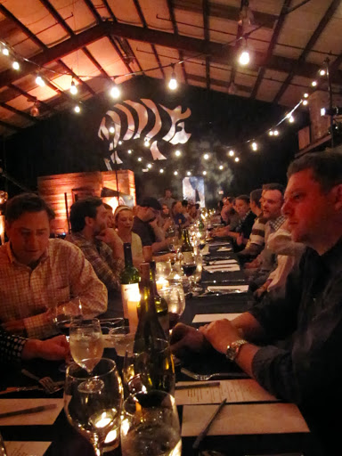 chase after a cure dinner by Guerrilla Cuisine supper club at Striped pig distillery, Charleston, SC