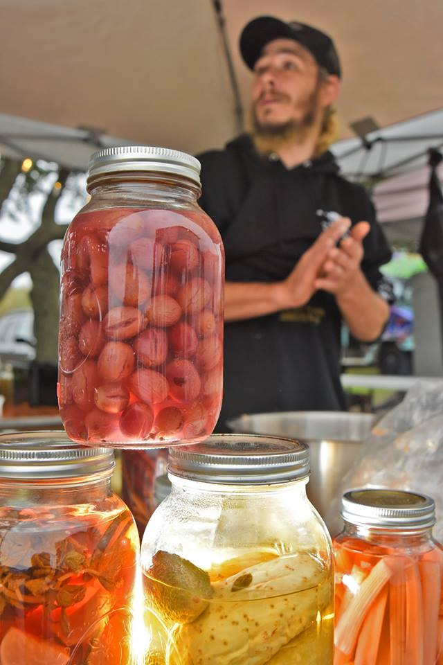 H.Ave Pickled NC Muscadine Grapes by Chef Kyle Mcknight.