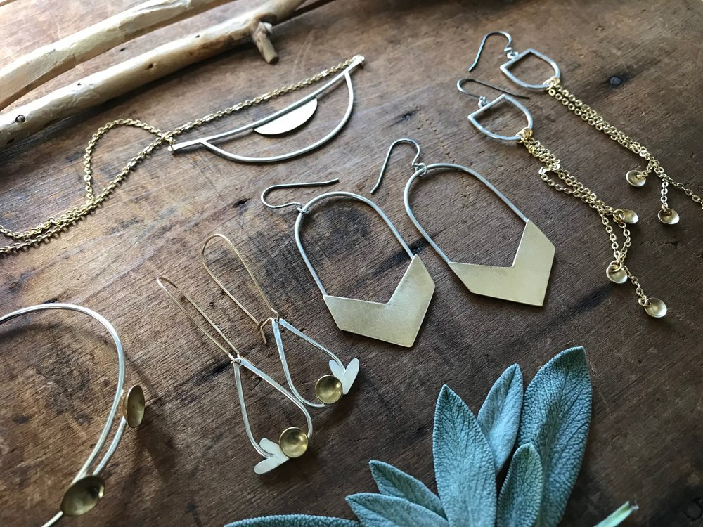 Mixed Metals Collection brass silver handcrafted jewelry
