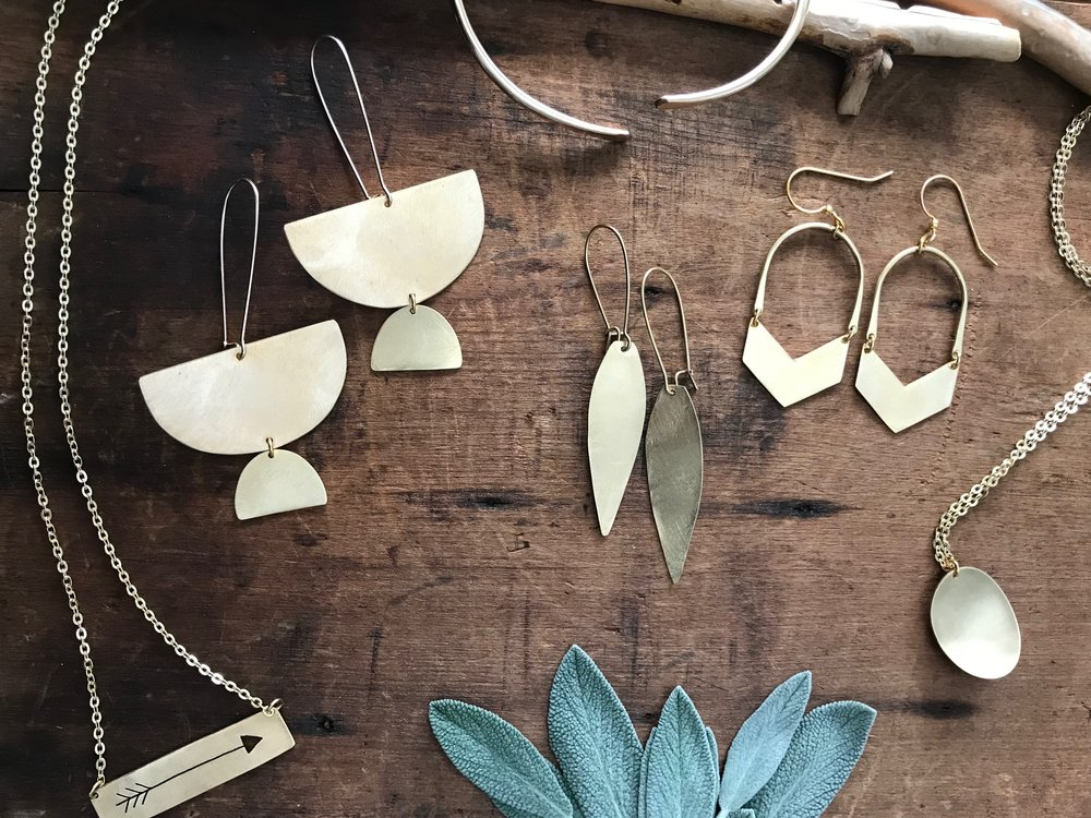 Brass Beuties Jewelry collection Melissa Giglio handcrafted
