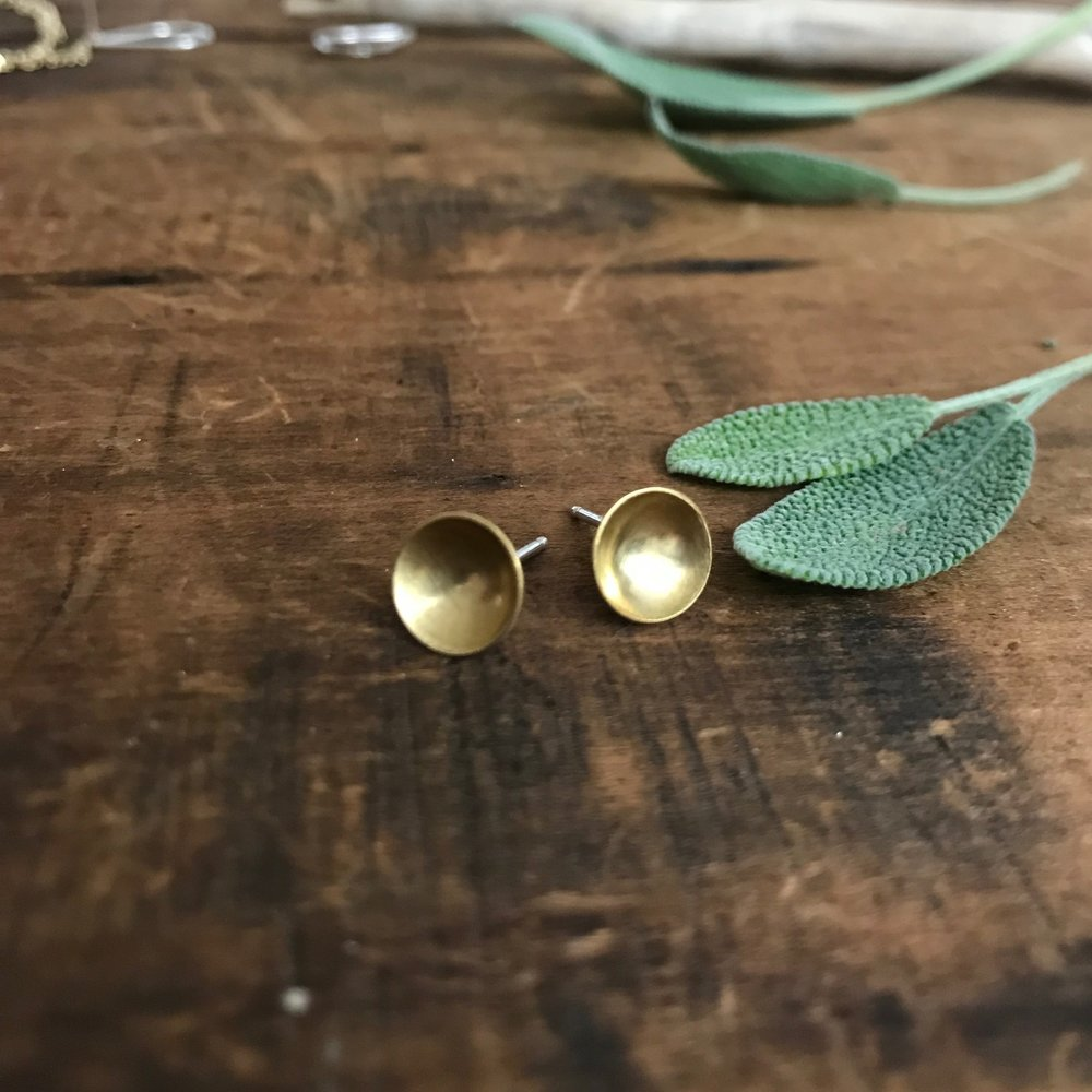 Brass Berry Dots  |  $32